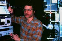 David on the first FCS microscope, 1975